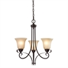 Cornerstone Brighton 3 Light Chandelier In Oil Rubbed Bronze