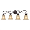 Cornerstone Brighton 4 Light Bath Bar In Oil Rubbed Bronze