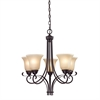 Cornerstone Brighton 5 Light Chandelier In Oil Rubbed Bronze