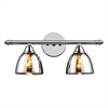ELK lighting Reflections 2 Light Vanity In Polished Chrome