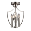 ELK lighting Dione 3 Light Semi Flush In Polished Nickel