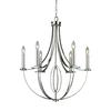 Dione 6 Light Chandelier In Polished Nickel