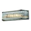 ELK lighting Braxton 2 Light Vanity In Polished Nickel And Ribbed Glass Rods