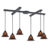 ELK lighting Firestorm 6 Light Pendant In Dark Rust