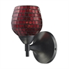 Celina 1 Light Sconce In Dark Rust And Copper Glass