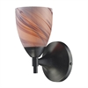 ELK lighting Celina 1 Light Sconce In Dark Rust And Creme Glass