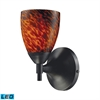 ELK lighting Celina 1 Light LED Sconce In Dark Rust And Espresso