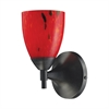 Celina 1 Light Sconce In Dark Rust And Fire Red