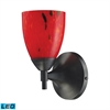 ELK lighting Celina 1 Light LED Sconce In Dark Rust And Fire Red