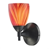 ELK lighting Celina 1 Light Sconce In Dark Rust And Multi Glass