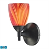 ELK lighting Celina 1 Light LED Sconce In Dark Rust And Multi Glass