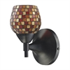 Celina 1 Light Sconce In Dark Rust And Multi Fusion Glass