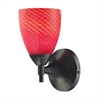 ELK lighting Celina 1 Light Sconce In Dark Rust And Scarlet Red Glass