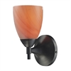 Celina 1 Light Sconce In Dark Rust And Sandy Glass