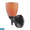 ELK lighting Celina 1 Light LED Sconce In Dark Rust And Sandy Glass