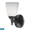 ELK lighting Celina 1 Light LED Sconce In Dark Rust And Simple White