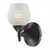Celina 1 Light Sconce In Dark Rust And White