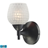 Celina 1 Light LED Sconce In Dark Rust And White