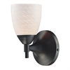 Celina 1 Light Sconce In Dark Rust And White Swirl Glass