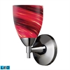 ELK lighting Celina 1 Light LED Sconce In Polished Chrome And Autumn Glass