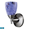 ELK lighting Celina 1 Light LED Sconce In Polished Chrome And Starburst Blue Glass