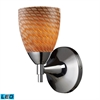 ELK lighting Celina 1 Light LED Sconce In Polished Chrome And Cocoa Glass