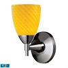 ELK lighting Celina 1 Light LED Sconce In Polished Chrome And Canary Glass