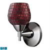 Celina 1 Light LED Sconce In Polished Chrome And Copper Glass