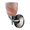 ELK lighting Celina 1 Light Sconce In Polished Chromew And Creme Glass