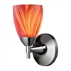 ELK lighting Celina 1 Light Sconce In Polished Chrome And Multi Glass
