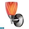 Celina 1 Light LED Sconce In Polished Chrome And Multi Glass