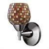 Celina 1 Light Sconce In Polished Chrome And Multi Fusion Glass