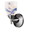 Celina 1 Light Sconce In Polished Chrome And Mountain