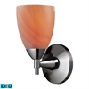 ELK lighting Celina 1 Light LED Sconce In Polished Chrome And Sandy Glass