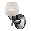 ELK lighting Celina 1 Light Sconce In Polished Chrome And White