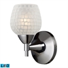 Celina 1 Light LED Sconce In Polished Chrome And White