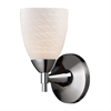 ELK lighting Celina 1 Light Sconce In Polished Chrome And White Swirl Glass