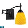 ELK lighting Celina 1 Light LED Swingarm Sconce In Dark Rust And Canary Glass