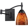 Celina 1 Light Sconce In Dark Rust And Espresso