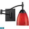 ELK lighting Celina 1 Light LED Swingarm Sconce In Dark Rust And Fire Red