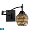 Celina 1 Light LED Swingarm Sconce In Dark Rust And Gold Leaf