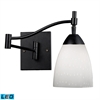 Celina 1 Light LED Swingarm Sconce In Dark Rust And Simple White