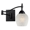 ELK lighting Celina 1 Light Swingarm Sconce In Dark Rust And White