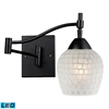 Celina 1 Light LED Swingarm Sconce In Dark Rust And White