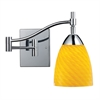 ELK lighting Celina 1 Light Swingarm Sconce In Polished Chrome And Canary Glass