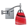 ELK lighting Celina 1 Light Swingarm In Polished Chrome And Candy Glass