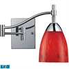 ELK lighting Celina 1 Light LED Swingarm Sconce In Polished Chrome And Fire Red