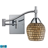 ELK lighting Celina 1 Light LED Swingarm Sconce In Polished Chrome And Gold Leaf Glass