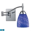 ELK lighting Celina 1 Light LED Swingarm In Polished Chrome And Sapphire Glass