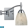 ELK lighting Celina 1 Light LED Swingarm Sconce In Polished Chrome And Snow White